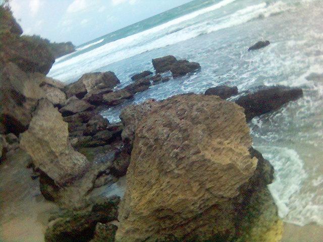 Wawaran bebatuan karang - pantai pacitan