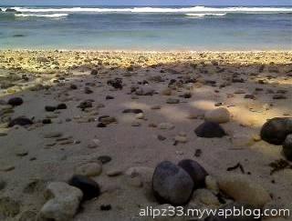 Kerikil pantai pidakan jetak tulakan pacitan