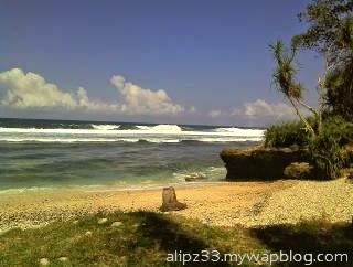 Landscape pantai pidakan jetak tulakan pacitan