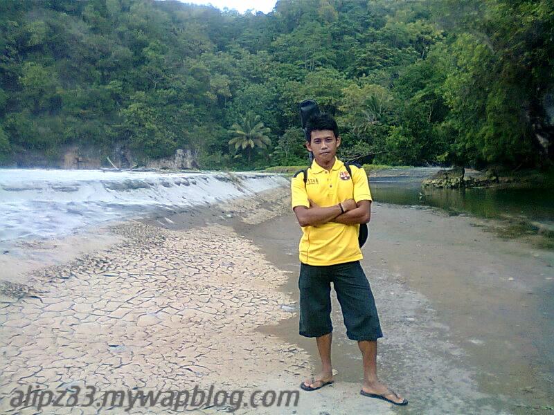 Pantai srengit dekat sungai pantai pacitan
