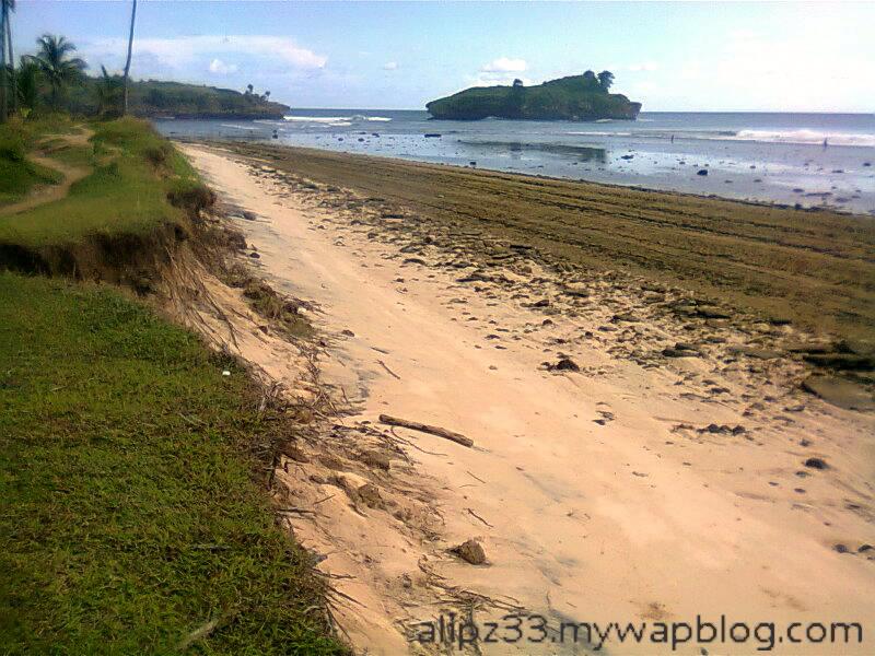 Pasir putih pantai daki sukorejo sudimoro pacitan