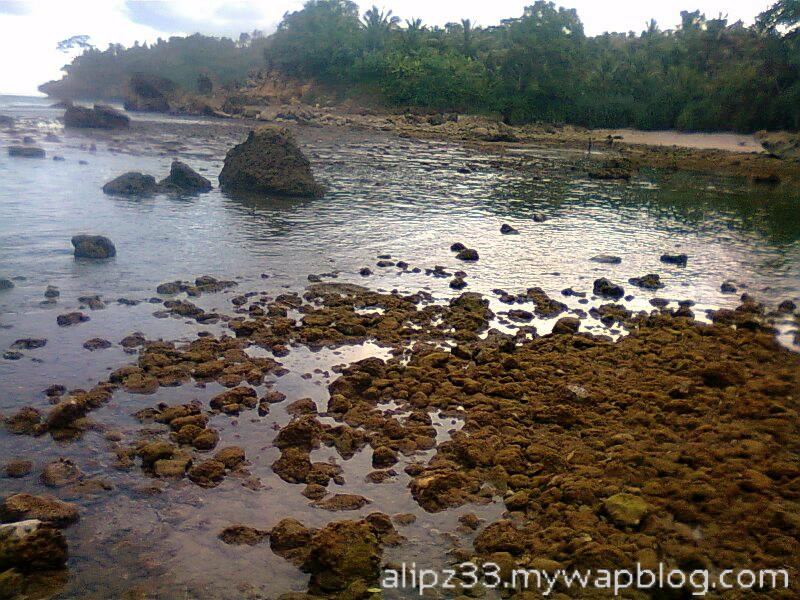 Tebing kanan pantai wawaran ngobyok sumberejo sudimoro pacitan