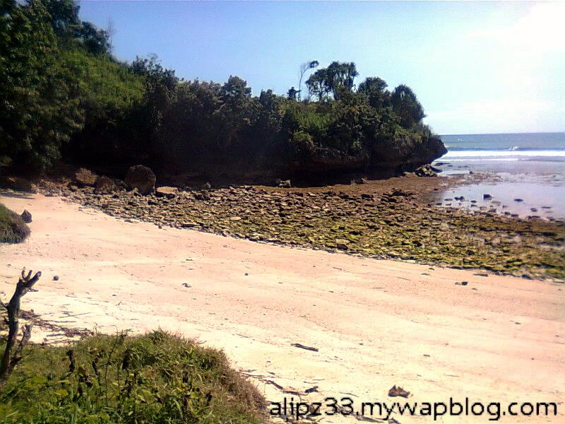 Tebing kiri lokasi 1 pantai daki sukorejo sudimoro pacitan