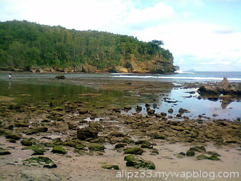 Tebing kiri pantai wawaran ngobyok sumberejo sudimoro pacitan
