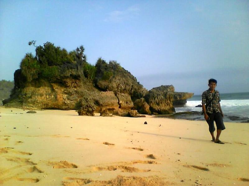 petualangan karang tengah pantai denombo jlubang pringkuku wisata pacitan