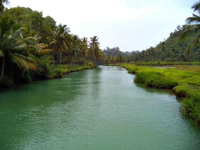 landscape gambar foto sungai kali cokel pacitan