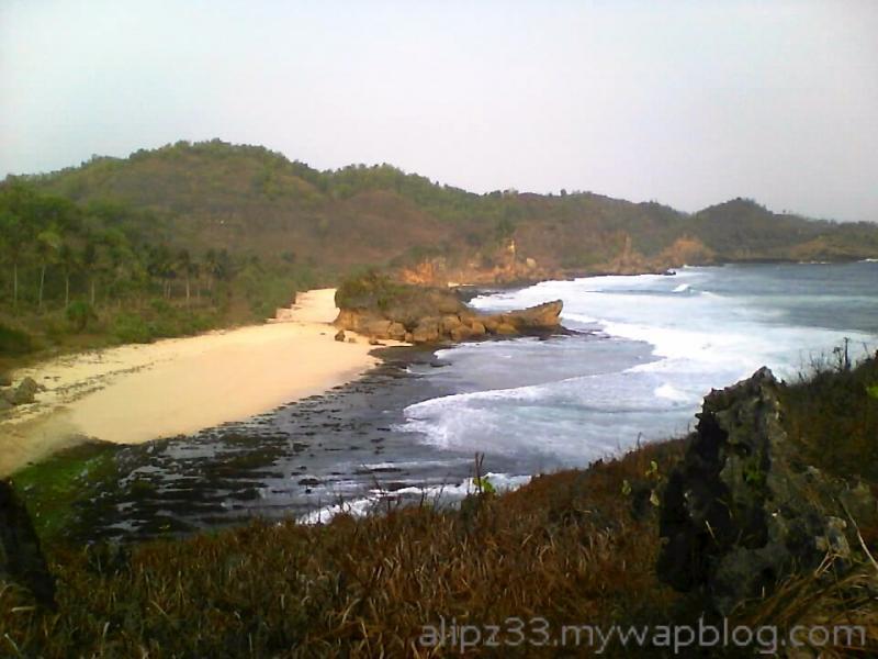 dari tebing barat pantai denombo jlubang pringkuku wisata pacitan