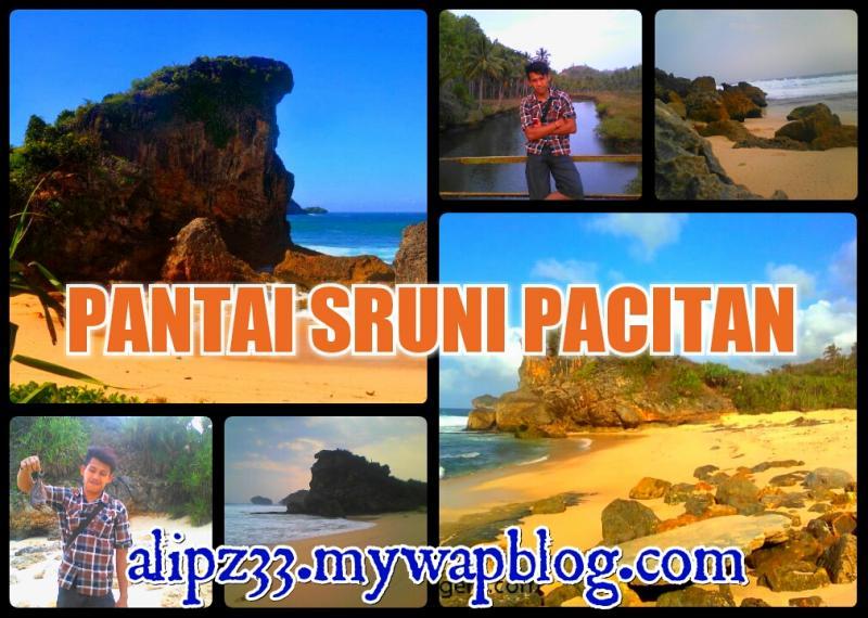 foto gambar wisata pantai sruni jlubang pringkuku pacitan