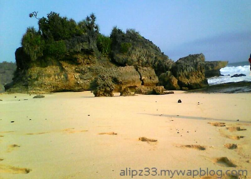 karang tengah pantai denombo jlubang pringkuku wisata pacitan