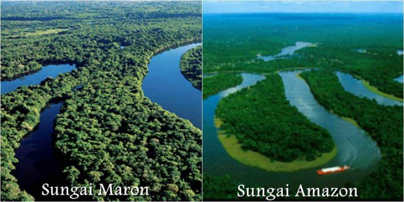 gambar foto amazon vs sungai kali maron pacitan jawa timur
