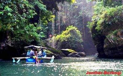 gambar foto wisata sungai kali maron pacitan jawa timur
