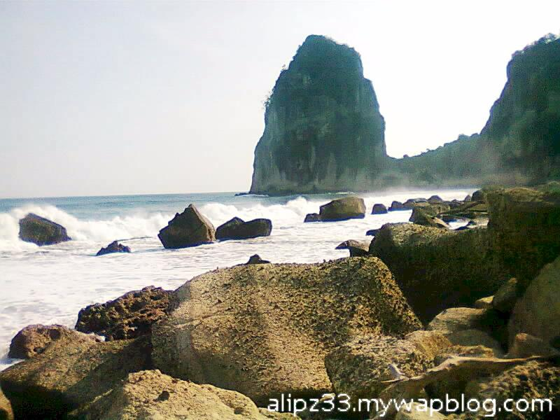 pantai pangasan kalipelus kebonagung pacitan wilayah pasang surut